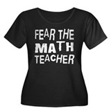 Funny Math Teacher Women's Plus Size Scoop Neck Da