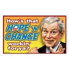 Bush - Hope and Change? Rectangle Decal