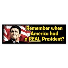 A REAL President Bumper Car Sticker