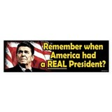 A REAL President Bumper Stickers