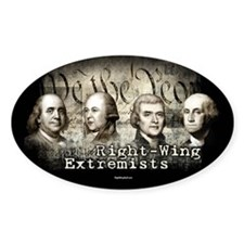 Right-Wing Extremists Oval Sticker (10 pk)