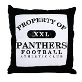 Property of Panthers Throw Pillow