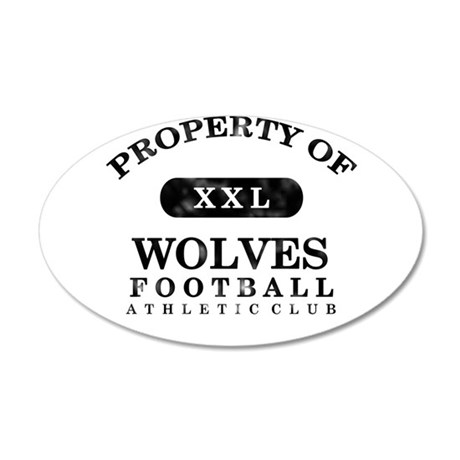 Property of Wolves 38.5 x 24.5 Oval Wall Peel