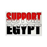 Support egypt Rectangular Magnet