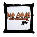 Deaf Leopard Throw Pillow