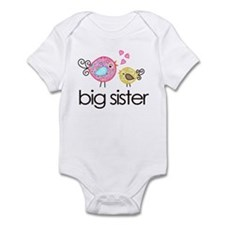 Whimsy Birds Big Sister Onesie