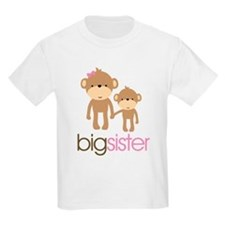 Monkey Big Sister T-Shirt