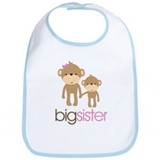 Monkey Big Sister Bib