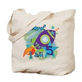 Rocket Ship 5th Birthday Tote Bag