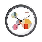 Paper Collage Manipulated Image Wall Clock