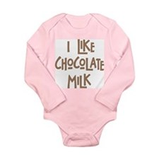 I like chocolate milk Long Sleeve Infant Bodysuit