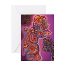 Quetzalcoatl Trinity Greeting Card