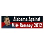 Alabama Against Mitt Romney 2012 bumper sticker