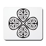 Black Shamrock Celtic Knot Mousepad