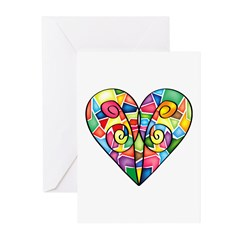 Colorful Heart Greeting Cards (Pk of 10)