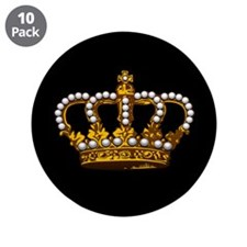 """Royal Wedding Crown 3.5"""" Button (10 pack)"""