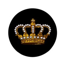 "Royal Wedding Crown 3.5"" Button (100 pack)"