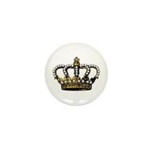 Royal Wedding Crown Mini Button (100 pack)