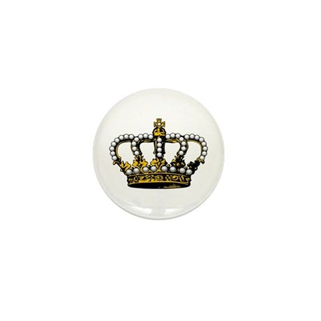 Royal Wedding Crown Mini Button (100 pack)
