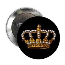 "Royal Wedding Crown 2.25"" Button"