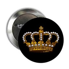 "Royal Wedding Crown 2.25"" Button (10 pack)"