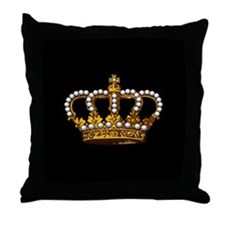 Royal Wedding Crown Throw Pillow