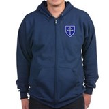 Cross of Lorraine Zip Hoodie (Dark)