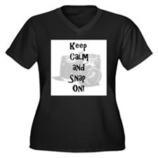 Keep calm and snap on Women's Plus Size V-Neck Dar