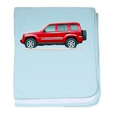Snow Covered Jeep Liberty baby blanket