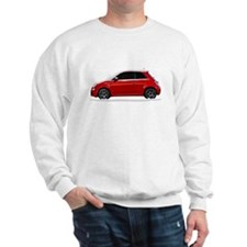 Snow Covered Fiat 500 Sweatshirt