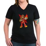 Fire Fairy Women's V-Neck Dark T-Shirt