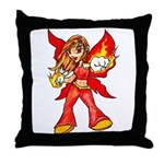 Fire Fairy Throw Pillow