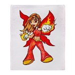 Fire Fairy Throw Blanket