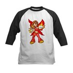 Fire Fairy Kids Baseball Jersey