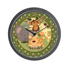"Jungle Safari Wall Clock - ""Xander"""