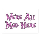 We're All Mad Here Alice Postcards (Package of 8)