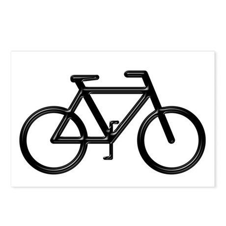 &amp;quot;Black Bike&amp;quot; Postcards (Package of 8)