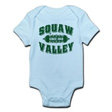 Squaw Valley Old Style Green Infant Bodysuit