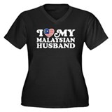 I Love My Malaysian Husband Women's Plus Size V-Ne