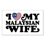 I Love My Malaysian Wife Decal