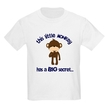 Monkey has Secret Big Brother Kids Light T-Shirt