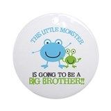 Going to Be Big Brother Monster Ornament (Round)