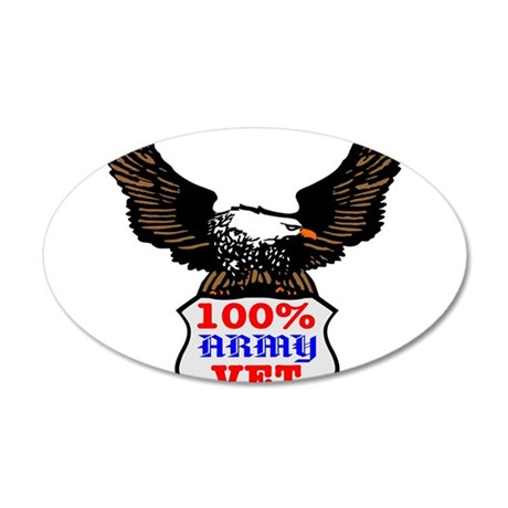 100% Army Vet Eagle 22x14 Oval Wall Peel