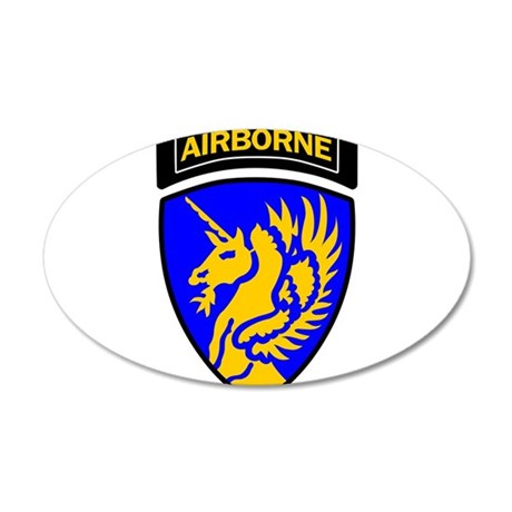 13th Army Airborne 22x14 Oval Wall Peel