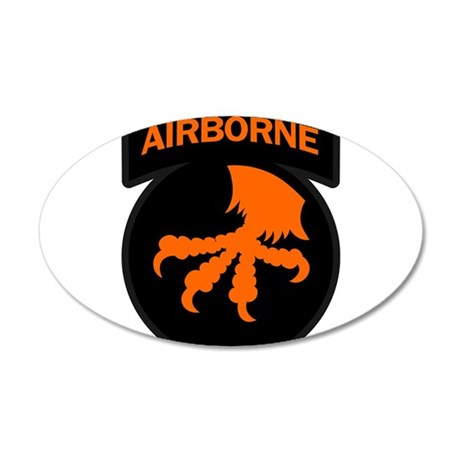 17th Army Airborne 22x14 Oval Wall Peel