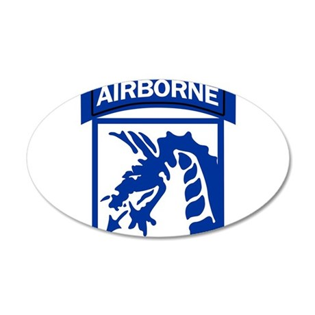 18th Army Airborne 22x14 Oval Wall Peel