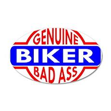 Genuine Biker BadAss 22x14 Oval Wall Peel