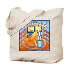 Tea for Me (Cat) Watercolor Tote Bag
