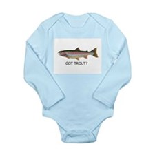got trout? Long Sleeve Infant Bodysuit