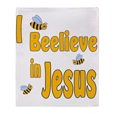 Beelieve in Jesus Throw Blanket